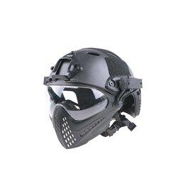 Ultimate Tactical Modular Helmet - FAST Para Jumper Piloteer - BK