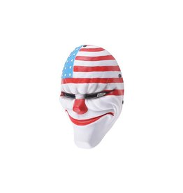 FMA Masque Harvest Day 2 Flag Clown Dallas en treillis métallique  - blanc