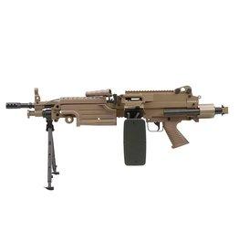 A&K LMG M249 Para AEG Maschinengewehr 1.41 Joule - TAN