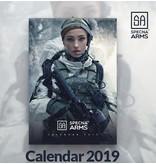 Specna Arms Tactical Girls Wandkalender 2019
