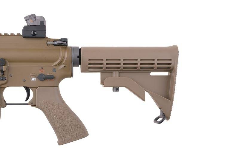 WE Tech HK416 Open-Bolt Co2 GBBR - TAN