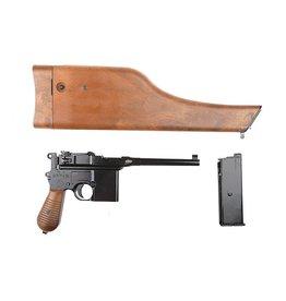 WE Tech WE712 C96 Pistole GBB 1,20 Joule  - Holzoptik