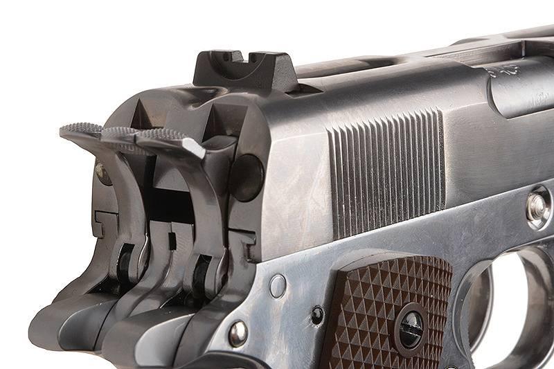 WE Tech 1911 Double Barrel GBB - Argent