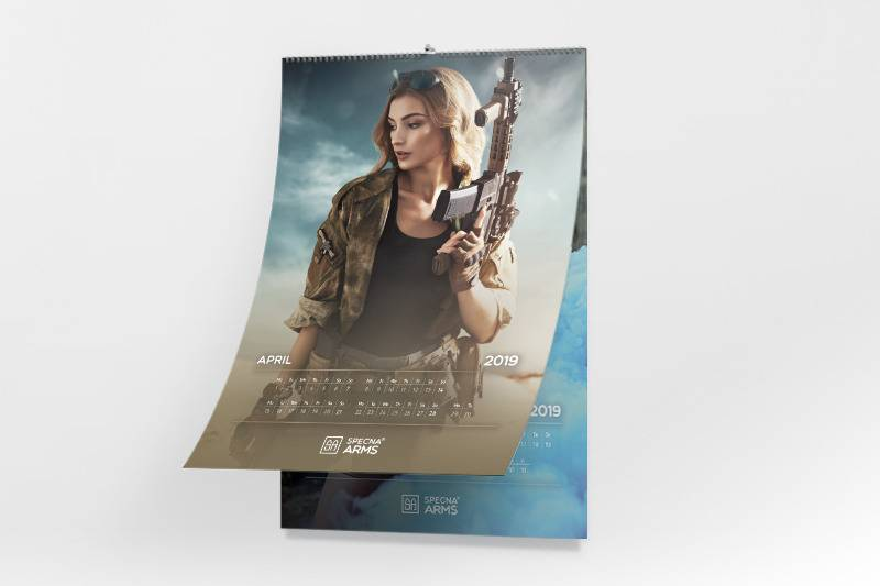 Specna Arms Calendrier mural Tactical Girls 2019
