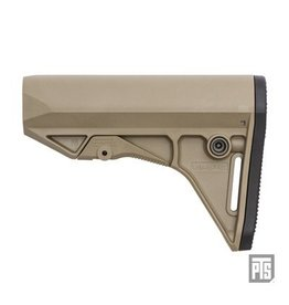 PTS Enhanced EPS-C Polymer Stock Compact - Dark Earth