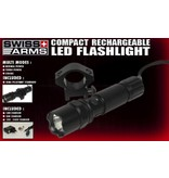 Swiss Arms LED Taclight avec 22mm support - rechargeable - BK