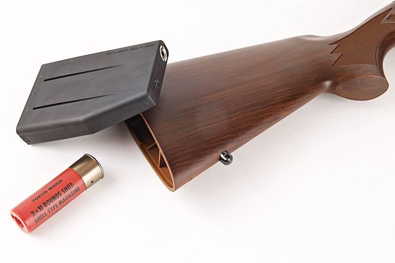Tokyo Marui M870 3/6-Burst Greengas Shotgun - Wood