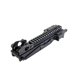 A&K Dust Cover with 22 mm RIS Rail for M249 Series - BK