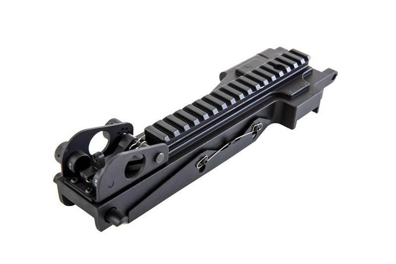 A&K Dust Cover mit 22 mm RIS Rail für M249 Serie - BK