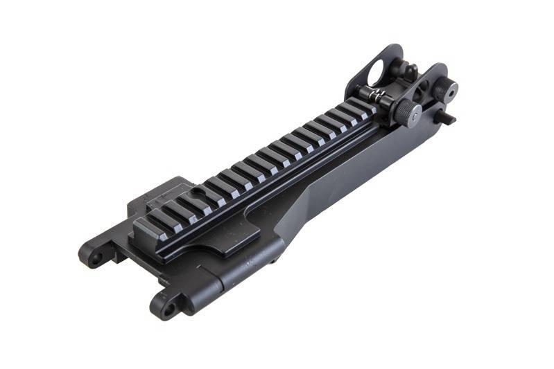 A&K Dust Cover avec rail RIS de 22 mm pour la série M249 - BK
