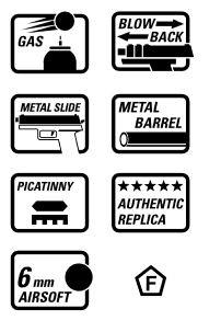Smith & Wesson M&P 9 Lizenzversion GBB - 1,0 Joule - BK