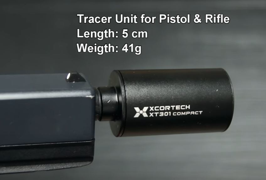 XCortech  XT301 UV Compact Pistolen Tracer Leuchtspur Silencer - BK