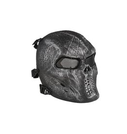 Ultimate Tactical Wire Mesh SKULL Maske - silber