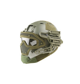 Ultimate Tactical Casque Modulaire - FAST Gunner Base Jump - OD