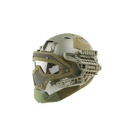 Ultimate Tactical modularer Helm - FAST Gunner  Base Jump  - OD