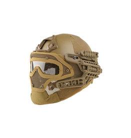Ultimate Tactical modularer Helm - FAST Gunner  Base Jump  - TAN