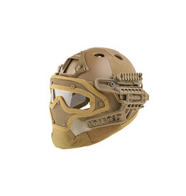 Ultimate Tactical Modular Helmet - FAST Gunner Para Jumper - TAN