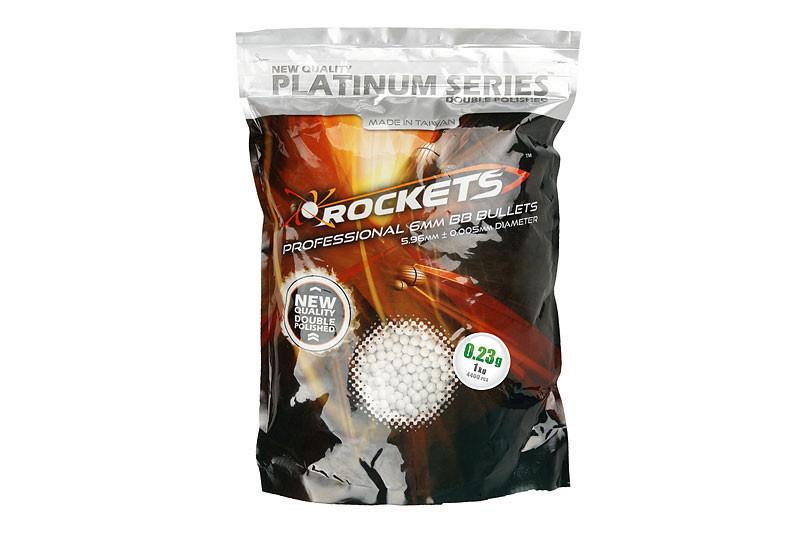 Rockets Platinum 0,23g BBs - 4.300 Stück - weiss