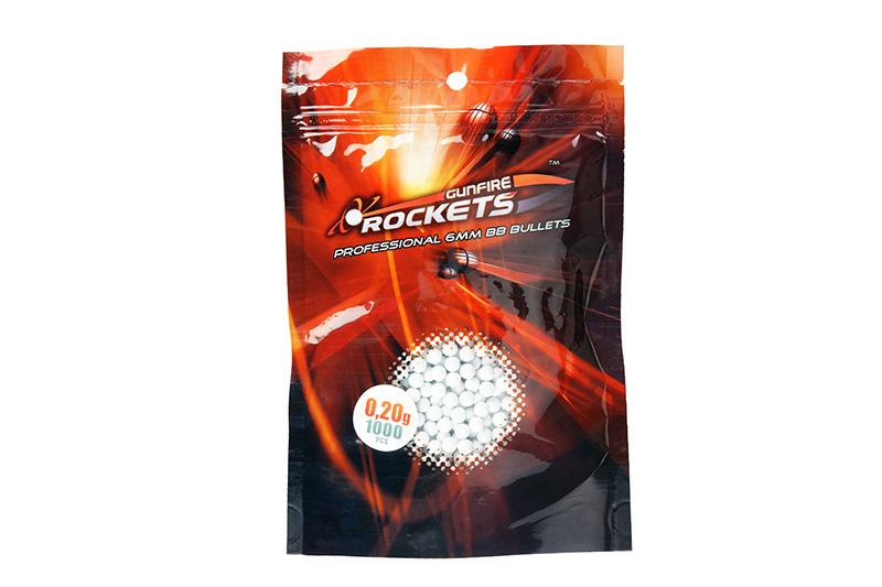 Rockets Professional 0.20g BBs - 1.000 pcs - blanc