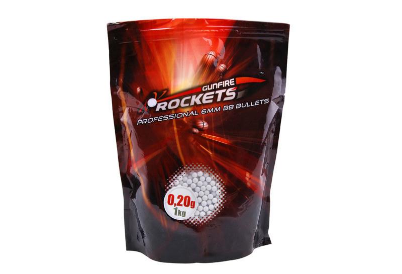 Rockets Professional 0.20g BBs - 5.000 pcs - blanc