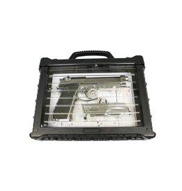 WE Tech M92 GBB V.2 mit LED Pistolenkoffer - 0,90 Joule - Silber