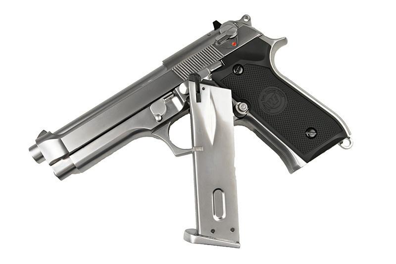 WE Tech M92 GBB V.2 avec LED Étui pour pistolet - 0.90 Joule - Argent