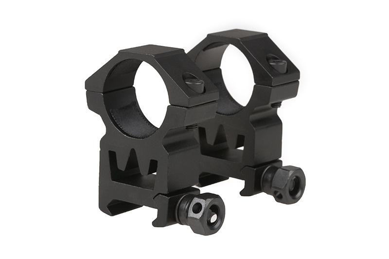 Theta Optics 2 x 25mm ZF Picatinny High Mount - BK