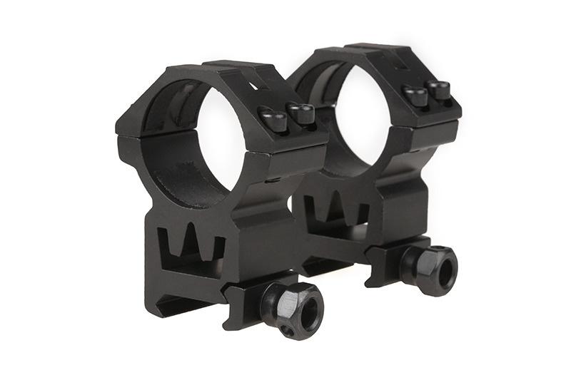 Theta Optics 2 x 30mm ZF Picatinny High Mount - BK