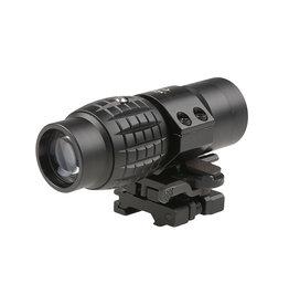 Theta Optics 3x35 QD Magnifier V2 Weaver - BK