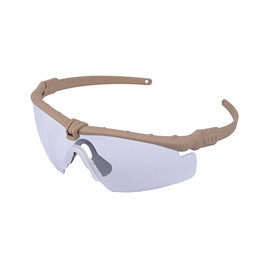Ultimate Tactical Shooting Glasses - TAN / Clear Lens