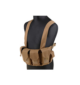 ACM Tactical Chest Rig with 4 x M4 / M16 Magazine Pouches - TAN