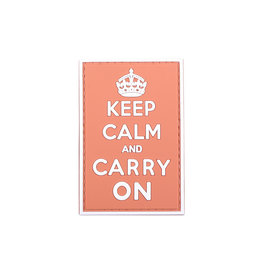 ACM Tactical 3D Patch Keep Calm And Carry On - Red