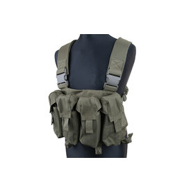 ACM Tactical Chest Rig mit AK/G36/AUG Magazintaschen - OD