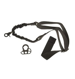 ACM Tactical 1 point bungee strap with M4 AEG strap adapter - BK