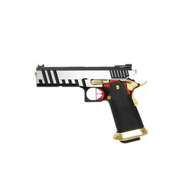 Armorer Works AW-HX2001 GBB 0.83 Joule - silber/rot/gold