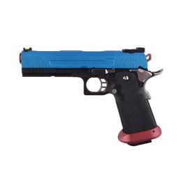 Armorer Works AW-HX1105 GBB 0.83 Joule - schwarz/blau/rot