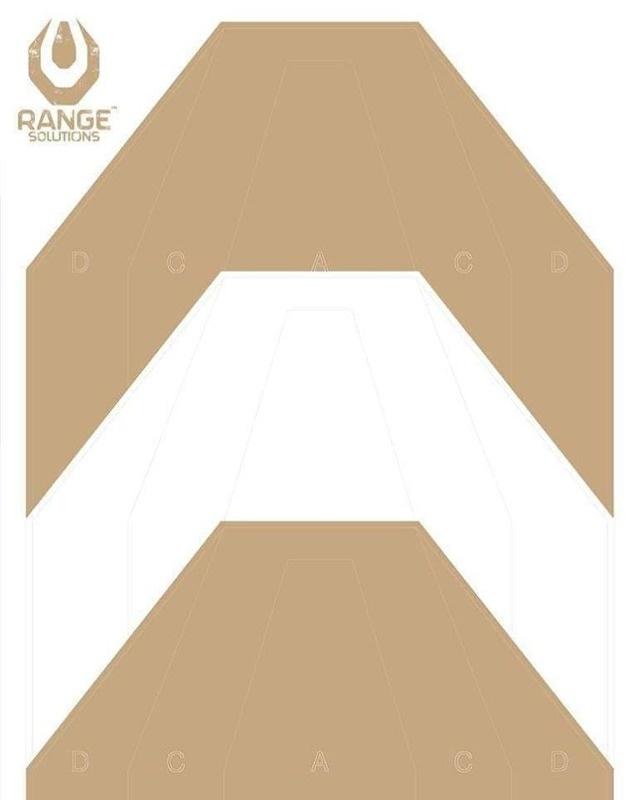 Range Solutions IPSC PT Cible 500x700 mm - 50 pièces