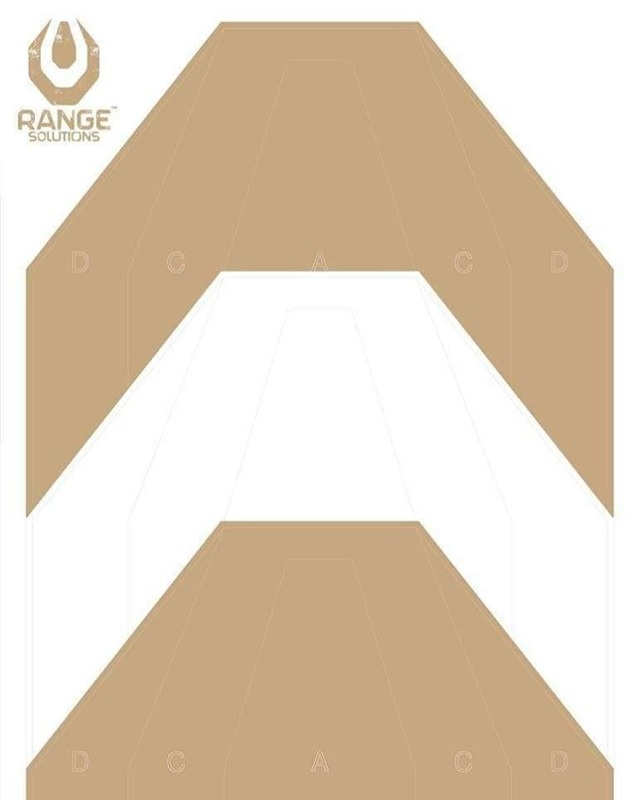 Range Solutions IPSC PT Target 500x700 mm - 50 pieces