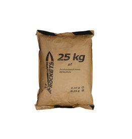 Rockets BBs professionnels 0,23g - 25kg - blanc