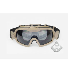 FMA Schutzbrille mit Ventilator V2 - TAN