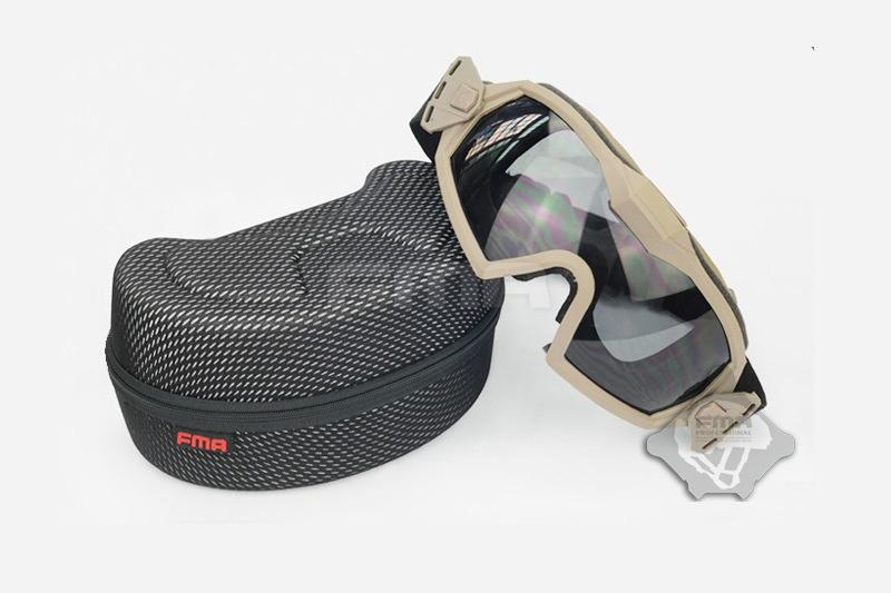FMA Lunettes de protection avec ventilateur V2 - TAN