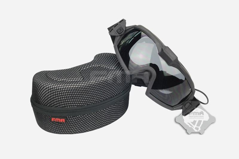 FMA Safety glasses with fan V2 - BK