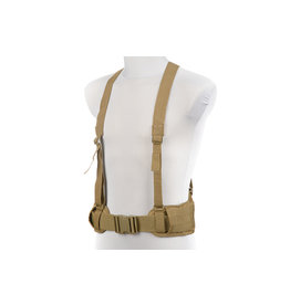 ACM Tactical Tactical MOLLE belt with X-Type braces - TAN