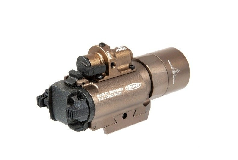 Night Evolution SF X400 Pistol Flashlight Laser Combo - TAN