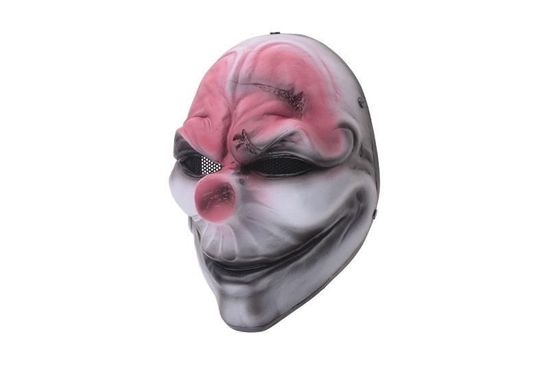 FMA Masque Harvest Day Clown 2 M Wire Mesh - blanc
