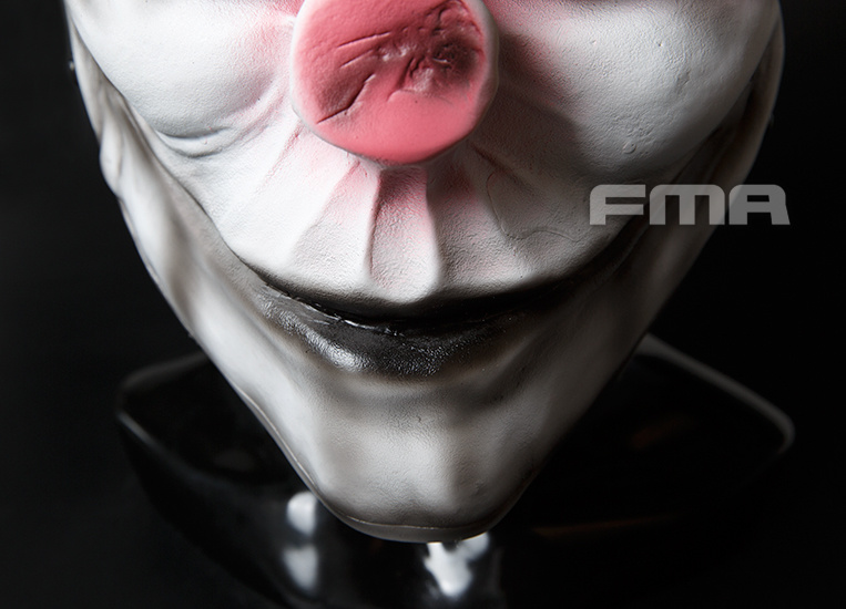 FMA Harvest Day Clown 2 M Wire Mesh Mask - white