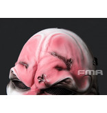 FMA Harvest Day Clown 2 M Wire Mesh Mask - weiss