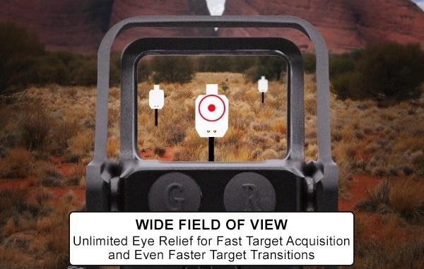 UTG Red/Green Dot Reflex Sight Weaver - BK