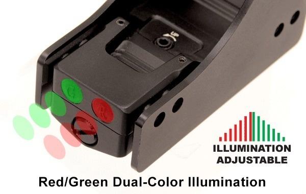 UTG Viseur réflexe à pois rouge/vert - BK