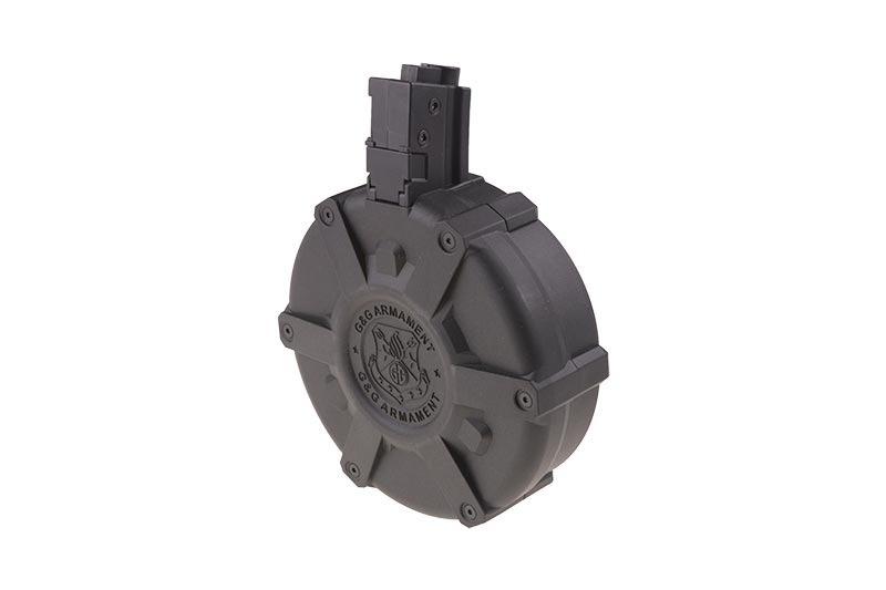 G&G MP5 manuelles Drum Magazin 2.300 BBs - BK